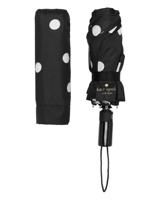 Kate Spade | Black And Cream Deco Dot Travel Umbrella | Lyst