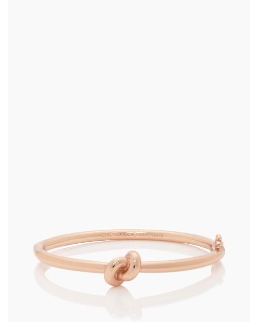 Kate Spade | Pink Sailor's Knot Hinge Bangle | Lyst