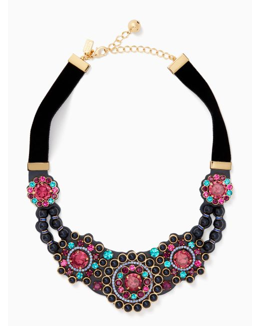 Kate Spade - Blue Luminous Small Statement Necklace - Lyst
