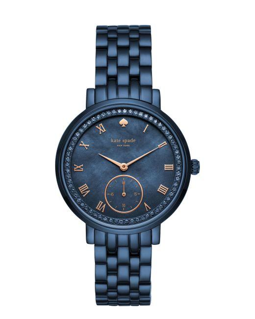 Kate Spade - Blue Monterey Navy Bracelet Watch - Lyst