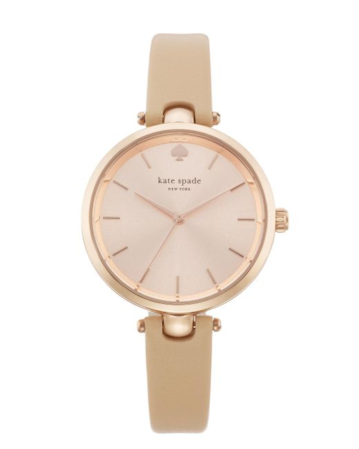kate spade new york | Metallic Holland Skinny Strap Watch | Lyst