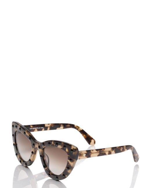 Kate Spade | Black Luann Sunglasses | Lyst