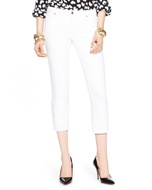 kate spade new york | White Delancey Street Cropped Jean | Lyst