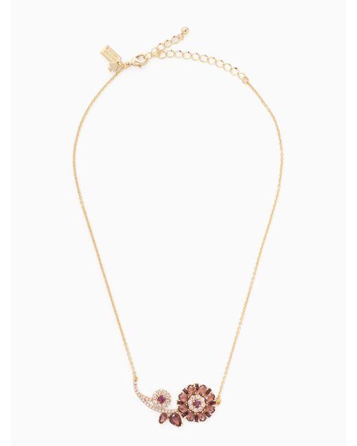 Kate Spade | Metallic Trellis Blooms Mini Pendant | Lyst