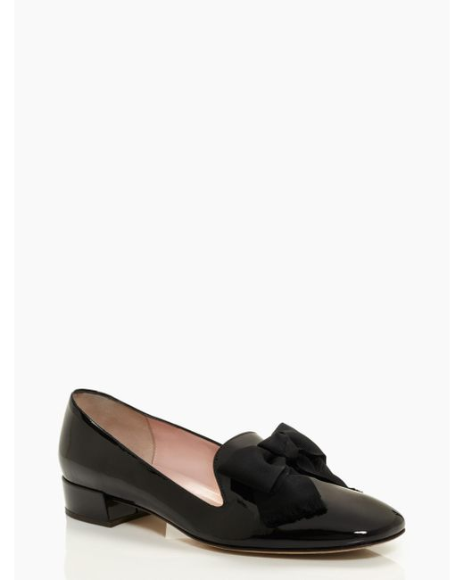 kate spade new york | Black Gino Flats | Lyst