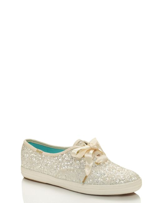 kate spade new york | White Keds For Glitter Sneakers | Lyst