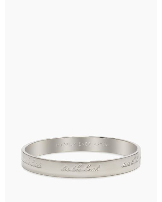 kate spade new york | Metallic Bride Idiom Bangle | Lyst