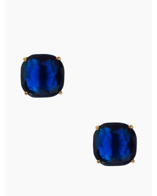 Kate Spade | Blue Kate Spade Small Square Studs | Lyst