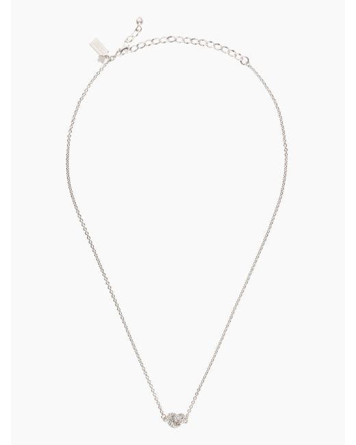 Kate Spade | Metallic Sailor's Knot Pave Pendant | Lyst