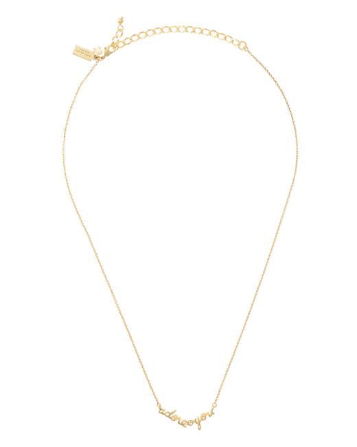 Kate Spade | Metallic Say Yes Adore You Necklace | Lyst