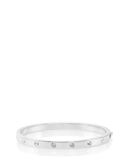 kate spade new york | Metallic Set In Stone Stone Hinged Bangle | Lyst