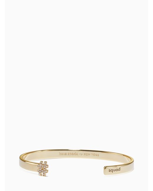 Kate Spade   Blue #livecolorfully Squad Cuff   Lyst