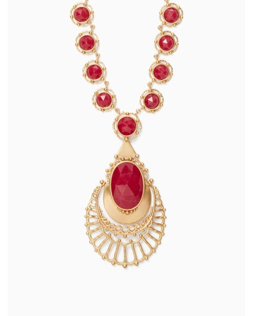 Kate Spade | Red On The Rocks Statement Necklace | Lyst