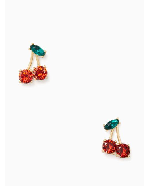 Kate Spade | Multicolor Ma Chérie Cherry Studs | Lyst