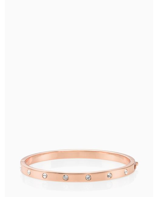 Kate Spade | Multicolor Set In Stone Stone Hinged Bangle | Lyst
