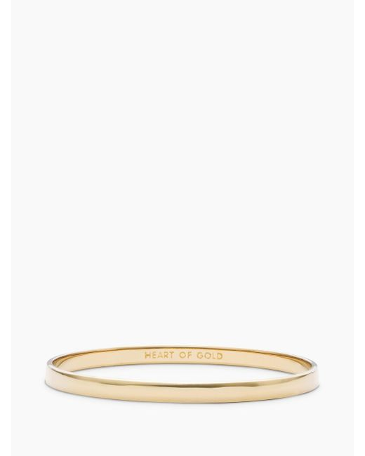 Kate Spade | Metallic Heart Of Gold Idiom Bangle | Lyst