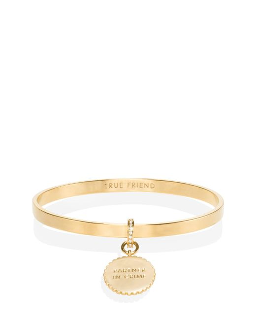 Kate Spade - Metallic Say Yes Scalloped Partners In Crime Bangle - Lyst