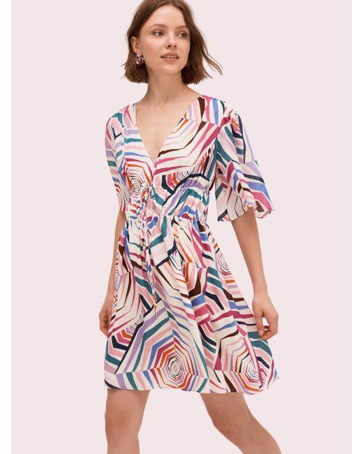766374298063 Kate Spade - Multicolor Geobrella Silk Dress - Lyst ...