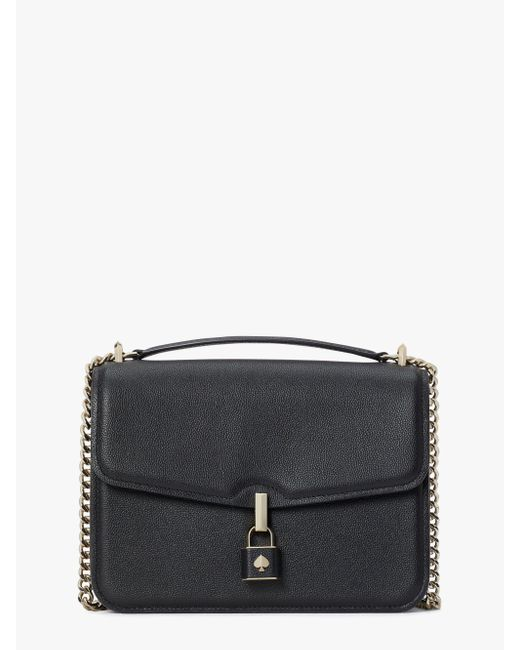 Kate Spade Black Locket Large Flap Shoulder Bag