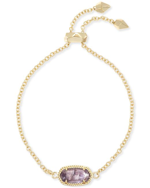 Kendra Scott - Metallic Elaina Adjustable Chain Bracelet In Amethyst - Lyst