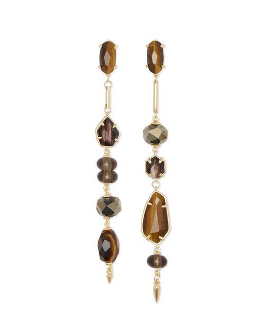 Kendra Scott - Metallic Cosette Gold Statement Earrings - Lyst