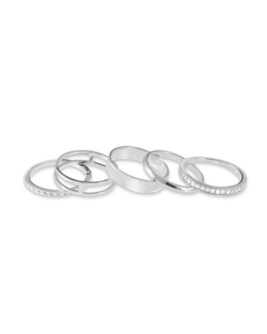Kendra Scott - Metallic Kara Midi Ring Set In Silver - Lyst