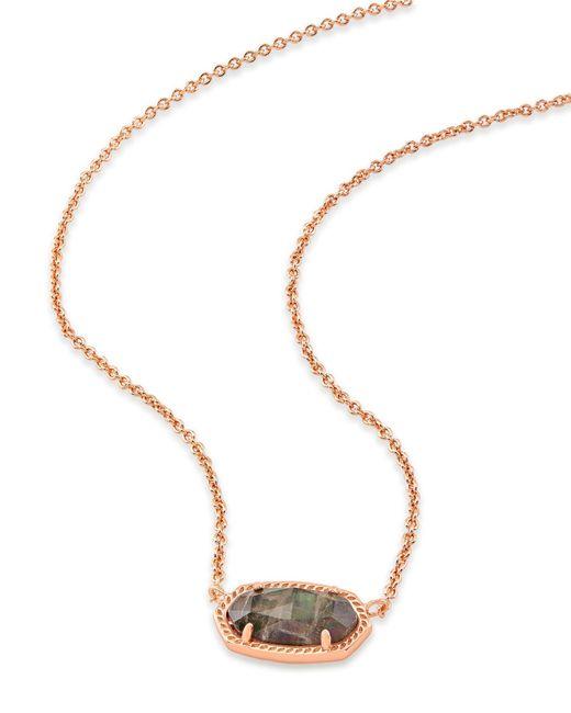 8cf8ec1a4 Kendra Scott Elisa Pendant Necklace in Metallic - Lyst