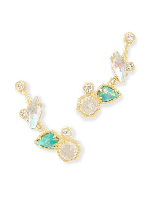 Kendra Scott - Multicolor Troian Ear Climbers - Lyst