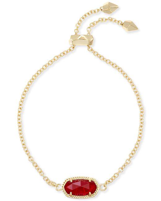 Kendra Scott - Metallic Elaina Adjustable Chain Bracelet - Lyst