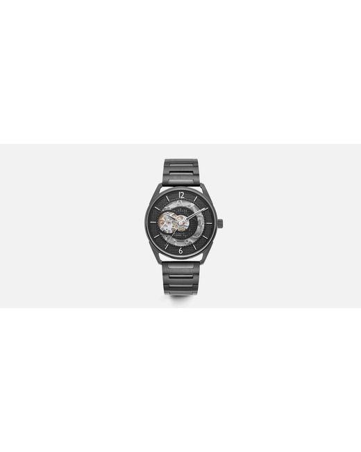 Kenneth Cole - Metallic Gunmetal Round Stainless Steel Watch for Men - Lyst