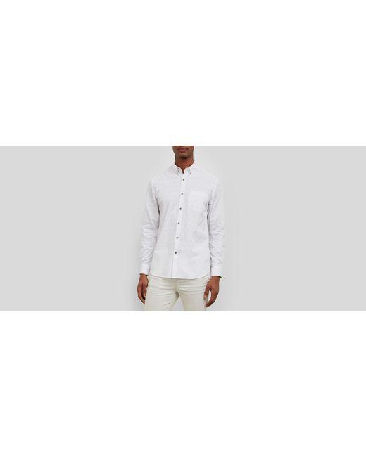 Kenneth Cole | White Long-sleeve Line Print Shirt for Men | Lyst