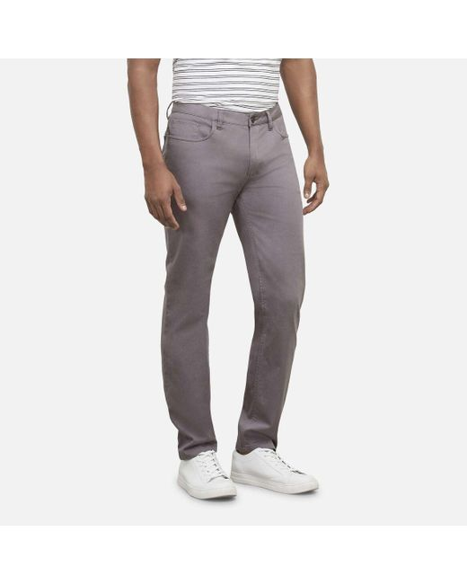 Kenneth Cole Gray The Mobility Comfort Stretch Twill Pant for men