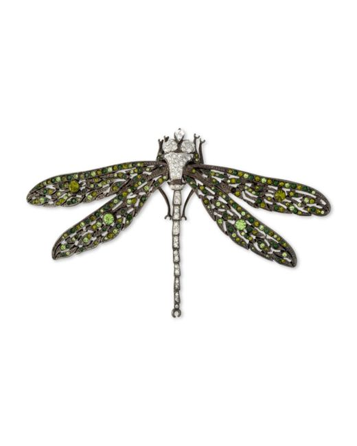 Kenneth Jay Lane   Multicolor Multi Green Dragonfly Brooch   Lyst