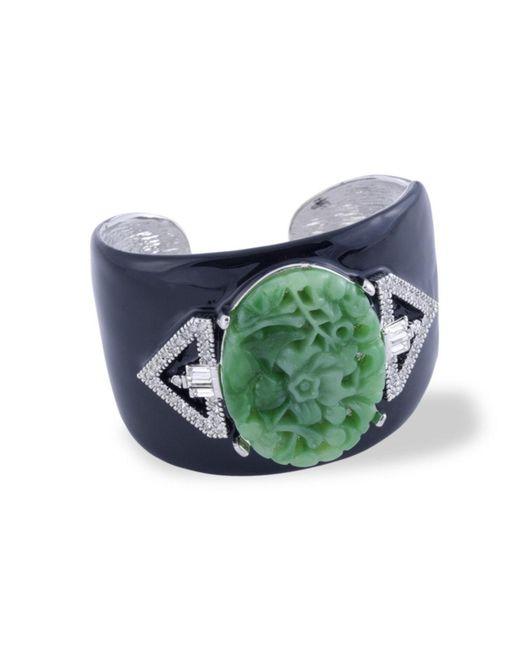 Kenneth Jay Lane | Green Jade Art Deco Cuff | Lyst