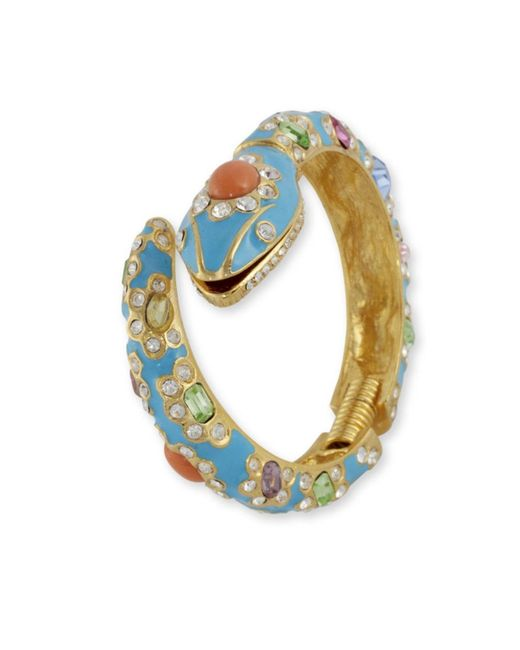 Kenneth Jay Lane | Blue Turquoise Snake Cuff | Lyst