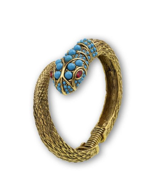 Kenneth Jay Lane | Blue Turquoise Snake Bracelet | Lyst