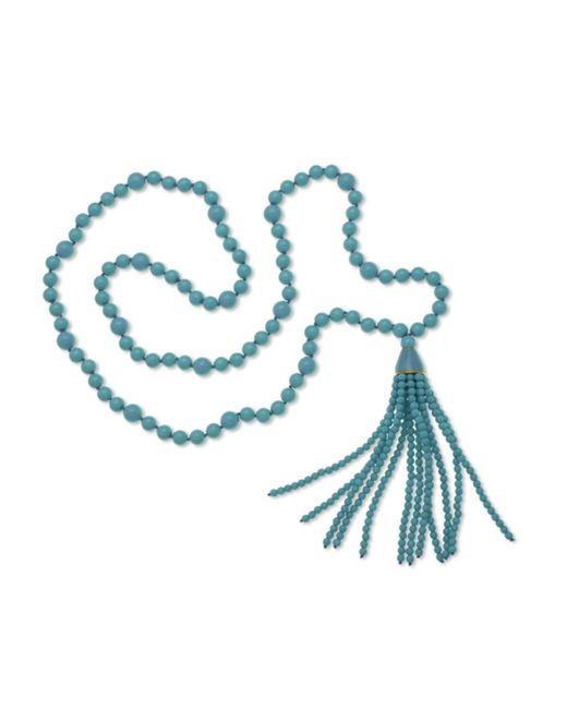 Kenneth Jay Lane | Blue Turquoise Tassel Necklace | Lyst