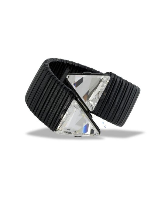 Kenneth Jay Lane | Black Wrap Bracelet | Lyst