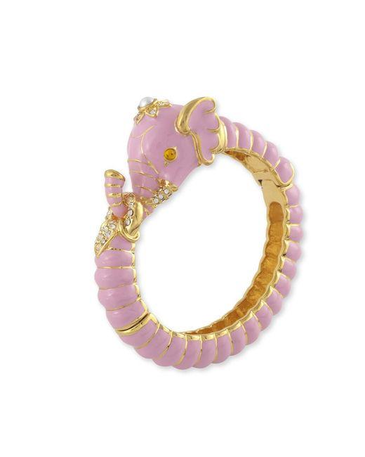 Kenneth Jay Lane | Pink Elephant Bracelet | Lyst