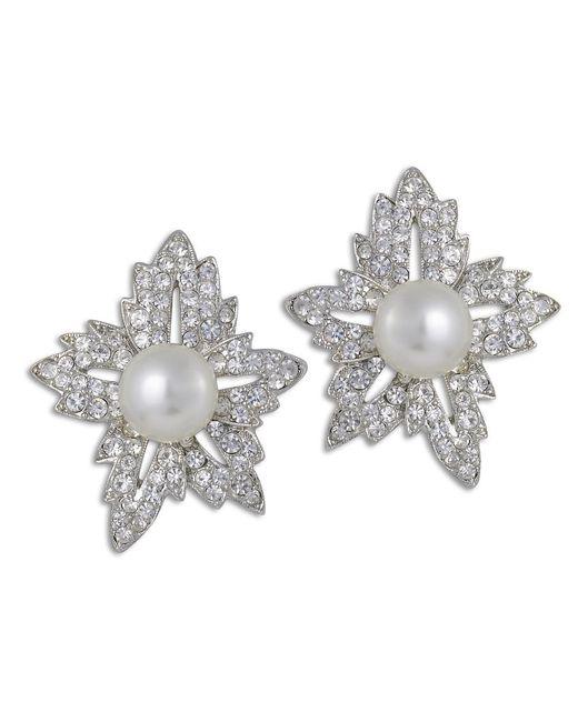 Kenneth Jay Lane | White Pearl Flower Earring | Lyst
