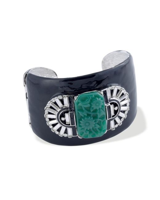 Kenneth Jay Lane | Blue Jade Art Deco Cuff | Lyst