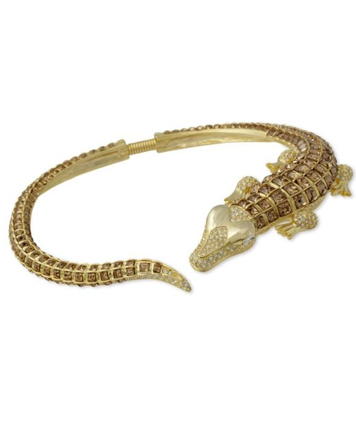 Kenneth Jay Lane | Metallic Topaz Allgator Necklace | Lyst