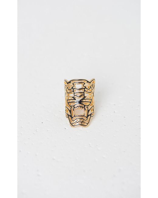 KENZO - Metallic Maxi Tiger Ring - Lyst