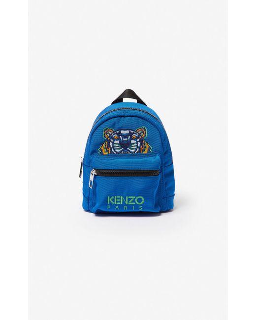 Large Tiger Canvas backpack KENZO en coloris Blue
