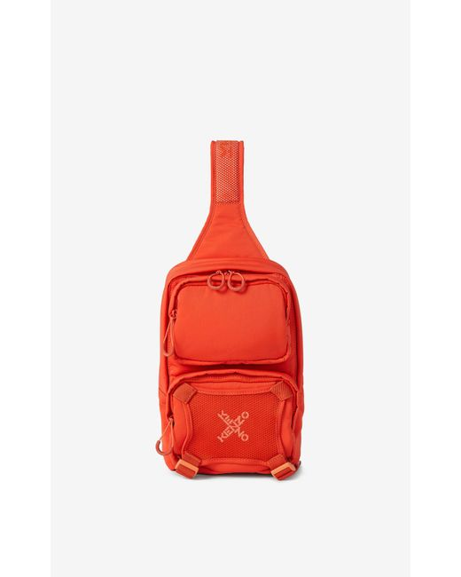 KENZO Red Sport Backpack With Strap