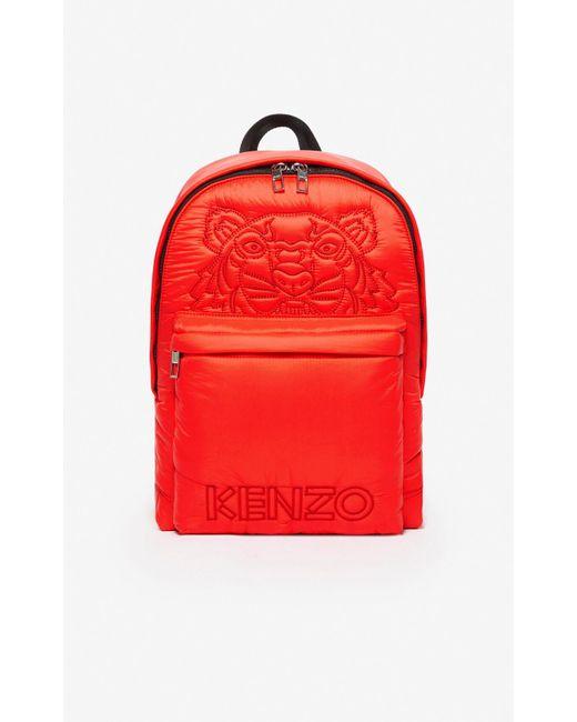 KENZO Red Large Tiger 'kampus' Backpack for men