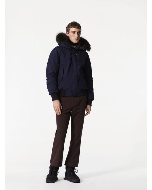 Kenzo Short Fur Parka in Blue for Men | Lyst