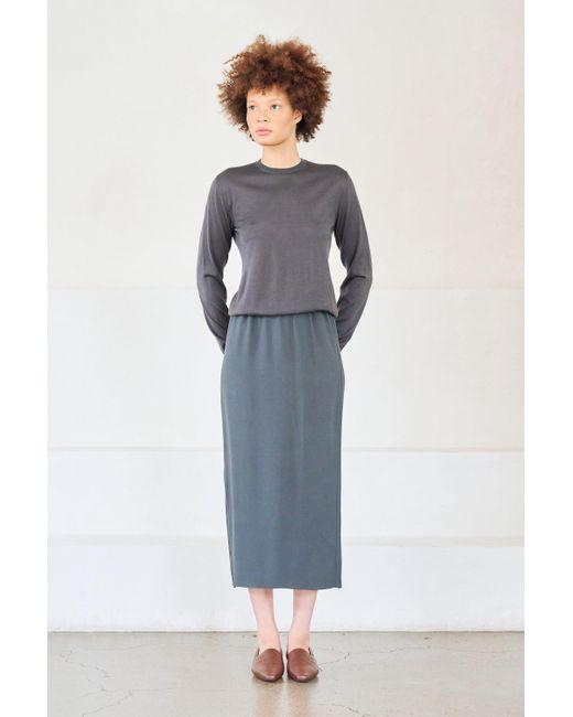 Gauchère Blue Tova Skirt