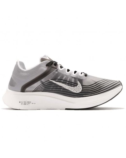 new york classic fit high quality Nike Zoom Fly Sp Black Light Bone for Men - Lyst