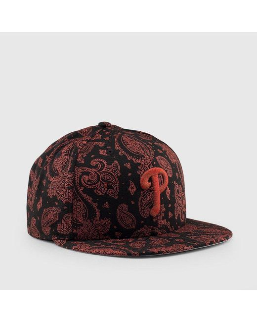 great prices buy popular innovative design KTZ Philadelphia Phillies 3m Paisley 9fifty Snapback in Red for ...